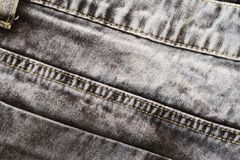 Винтажный крупный план джинсов Предпосылка фото текстуры джинсовой ткани Джинсовая ткань джинсов Boho Стоковое Фото
