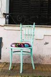 Винтажный крупный план стула красивый никто стоковое изображение rf