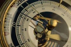 Винтажный крупный план барометра Стоковое Изображение