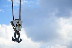 Винтажный крюк крана гавани Стоковое Изображение