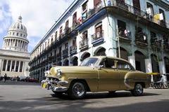 Винтажный кубинський автомобиль Стоковое Изображение