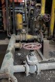 Винтажный клапан в фабрике тяжелой индустрии Стоковая Фотография RF