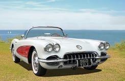 Винтажный классический автомобиль с откидным верхом Chevrolet Corvette C1 Стоковое Изображение