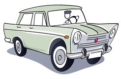 Винтажный классический автомобиль Стоковое Фото