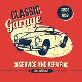 Винтажный классический дизайн гаража Стоковые Фотографии RF