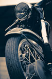 Винтажный классический мотоцикл - изображение запаса Стоковое Фото