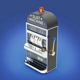 винтажный классический торговый автомат с вьюрками символов валюты изолированный на предпосылке цвета представьте Стоковые Изображения RF