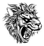 Винтажный лев стиля Стоковое Изображение