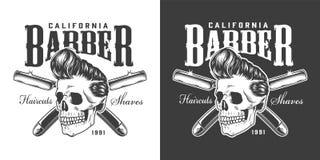Винтажный логотип парикмахерскаи иллюстрация вектора