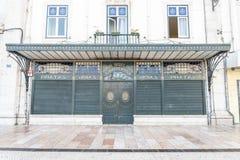 Винтажный магазин стиля в центре Лиссабона, Португалии Стоковая Фотография
