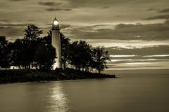Винтажный маяк Великих озер Стоковое Изображение RF