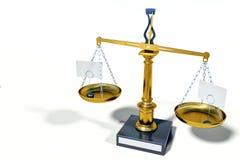 Винтажный металлический масштаб баланса на светлой предпосылке иллюстрация штока