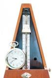Винтажный метроном и часы Стоковое Фото