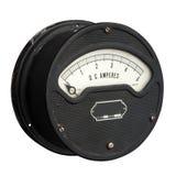 Винтажный метр ампера стоковое изображение rf