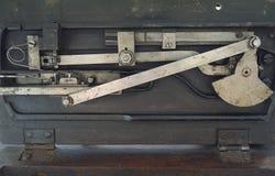 Винтажный механизм швейной машины внутренний стоковое фото rf