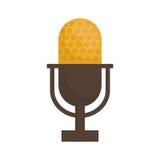 Винтажный микрофон радио иллюстрация вектора