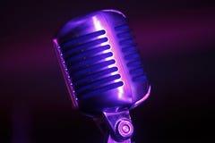 Винтажный микрофон Стоковое Фото
