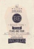 Винтажный мотивационный плакат с цитатой Стоковое Изображение