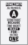 Винтажный мотивационный плакат Украшение в интерьере Стоковые Фотографии RF