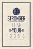 Винтажный мотивационный плакат цитаты Стоковые Фото
