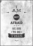Винтажный мотивационный плакат Стоковое Изображение