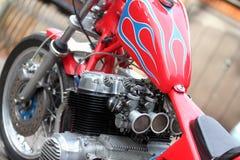 Винтажный мотоцикл ` тяпки ` Honda CB750 4 Стоковая Фотография RF