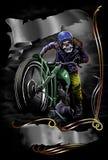 Винтажный мотоцикл Стоковая Фотография RF