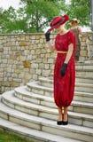Винтажный модный парад, одежда WomanСтоковые Изображения