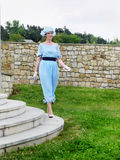 Винтажный модный парад, одежда WomanСтоковая Фотография RF