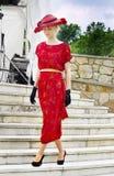 Винтажный модный парад, одежда WomanСтоковое Фото