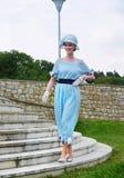 Винтажный модный парад, одежда WomanСтоковые Фотографии RF