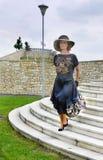 Винтажный модный парад платья Стоковые Фото