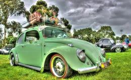Винтажный немец Volkswagen Beetle Стоковая Фотография