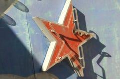 Винтажный неоновый знак звезды Стоковое фото RF