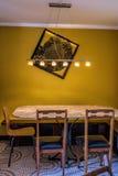Винтажный обеденный стол Стоковая Фотография