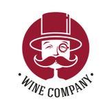 Винтажный логотип вина Стоковое Изображение RF