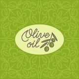 Винтажный логотип оливкового масла Стоковые Фото