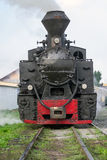 Винтажный локомотив поезда пара Стоковое Изображение