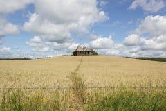 Винтажный дом в поле Стоковая Фотография