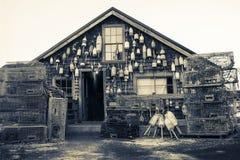 Винтажный дом шлюпки Стоковое Изображение