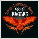 Винтажный орел ярлыка - ретро эмблема Стоковые Фото