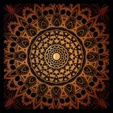 Винтажный орнамент мандалы doodle в индийской предпосылке стиля Стоковые Изображения