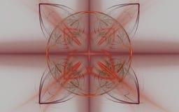 Винтажный орнамент на сером цвете Стоковые Изображения