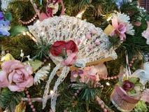 Винтажный орнамент рождества вентилятора стоковые фотографии rf