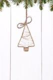 Винтажный орнамент рождества на деревянной предпосылке стоковые изображения rf