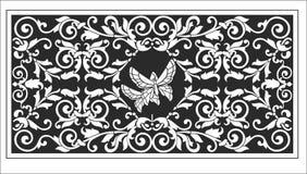 Винтажный орнамент с бабочками иллюстрация вектора