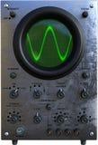 Винтажный осциллограф, технология, изолированное инженерство, Стоковые Фотографии RF