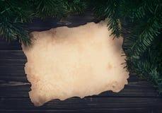 Винтажный пергамент Стоковое Фото