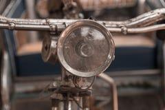 Винтажный передний свет велосипеда Стоковая Фотография RF