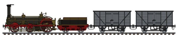 Винтажный поезд пара перевозки Стоковая Фотография RF